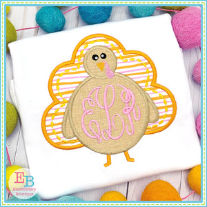 Monogram Turkey Applique, Applique