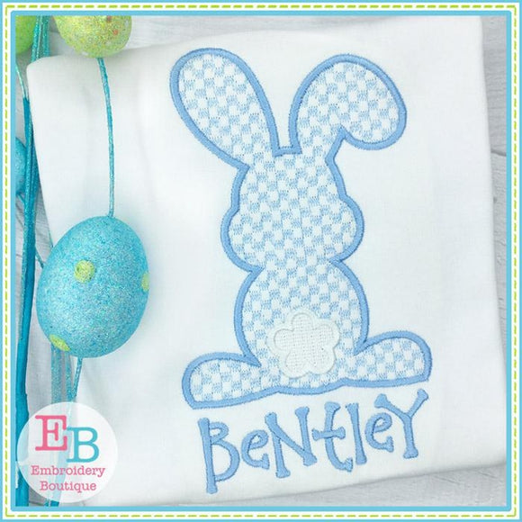 Bunny Backside Check Motif Design