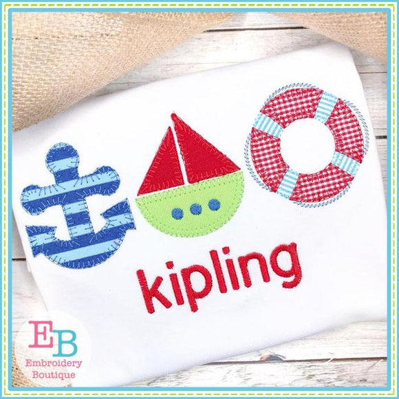 Nautical Trio BS Applique, Applique
