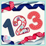 Basic Applique Numbers Set, Applique Number Set