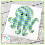 Octopus 2 Blanket Stitch Applique - Embroidery Boutique