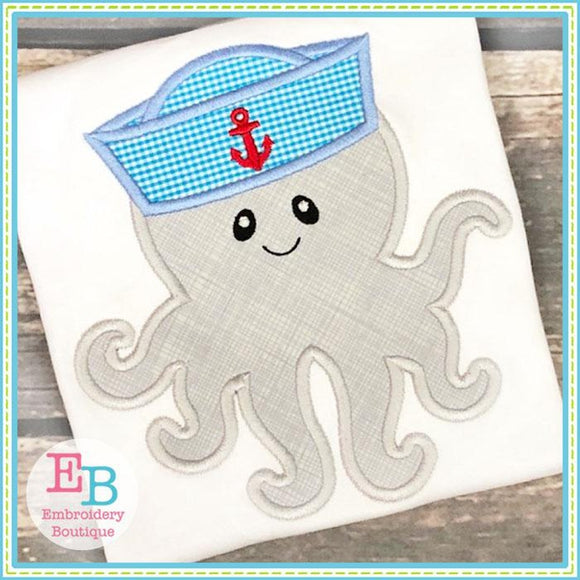 Octopus Hat Applique - Embroidery Boutique