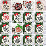 Christmas Ornament Embroidery Design Bundle, Embroidery