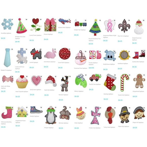 Retired Designs Bundle - 599 Designs!, Applique