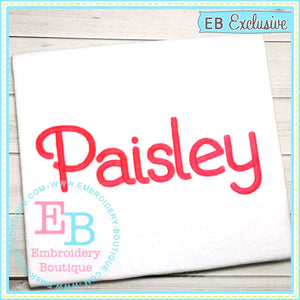 Paisley Embroidery Font, Embroidery Font