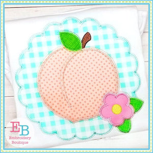 Peach Scallop Zigzag Applique
