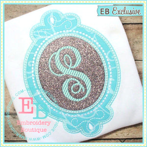 Pearl Frame Applique-Embroidery Boutique