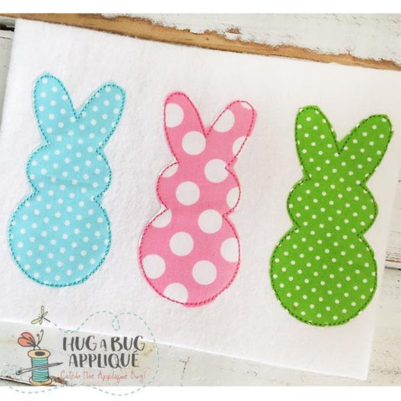 Triple Peep Bean Stitch Applique Design, Applique
