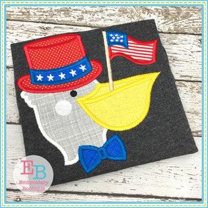 Pelican Flag Applique, Applique