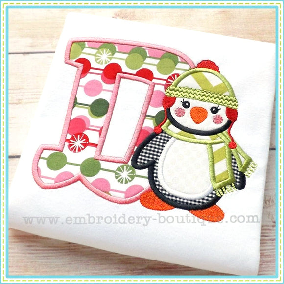 Penguin Applique Alphabet-Embroidery Boutique