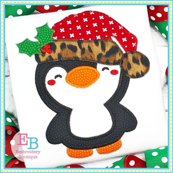 Santa Penguin Zigzag Applique
