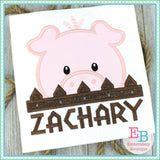 Pig Peeker Applique