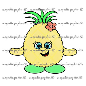 Pineapple Printable Design PNG-Embroidery Boutique