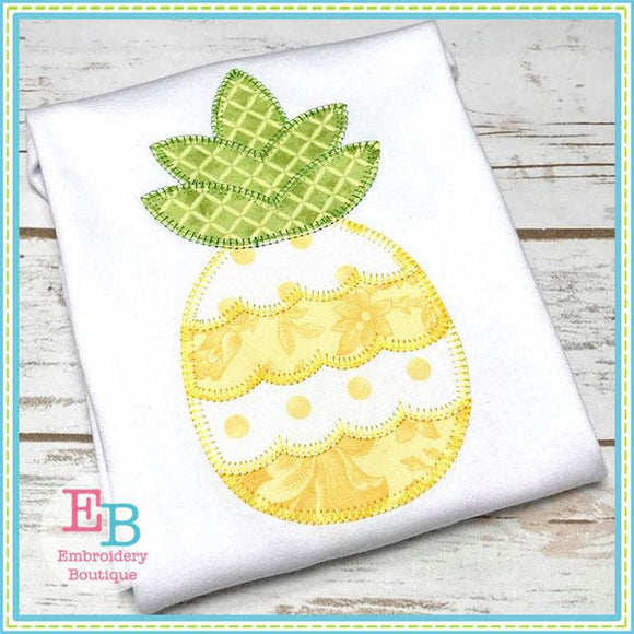 Pineapple 3 Blanket Stitch Applique, Applique