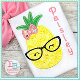 Pineapple Glasses Applique - embroidery-boutique