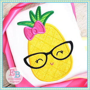 Pineapple Glasses Applique, Applique