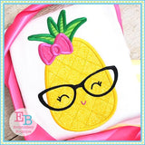 Pineapple Glasses Applique - Embroidery Boutique