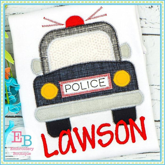 Police Car Zigzag Applique, Applique