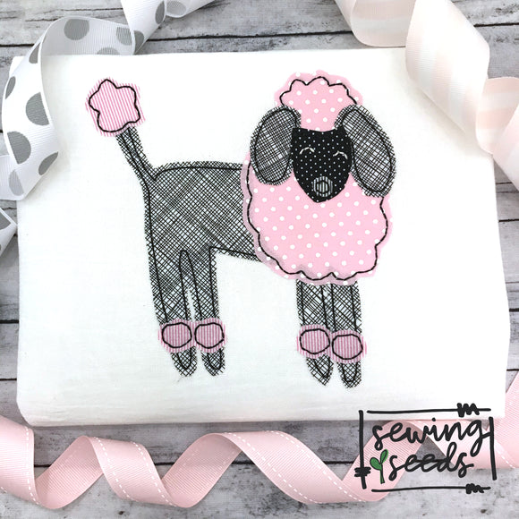 Poodle Dog Applique SS-Embroidery Boutique
