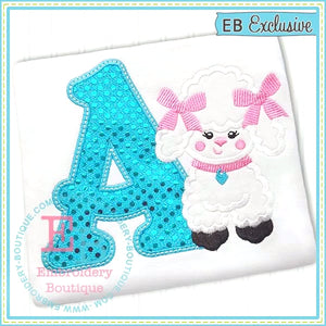 Poodle Applique Alphabet, Applique Alphabet