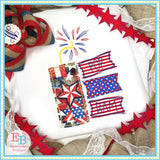 Pop Boom Bam Firework Bean Applique