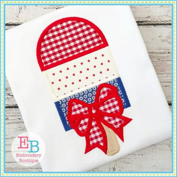 Popsicle Bow Applique