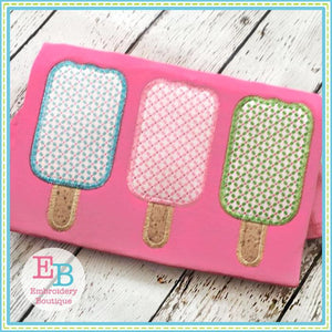 Popsicle Trio Zigzag Applique, Applique