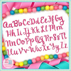 Praline Embroidery Font, Embroidery Font