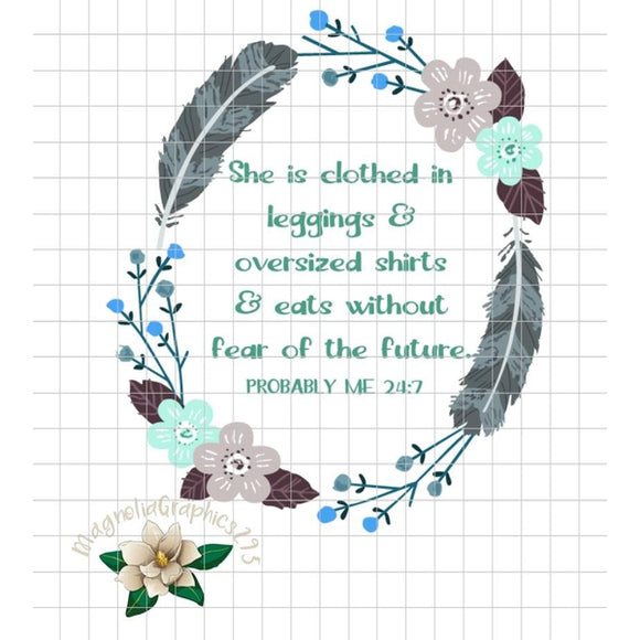 Probably Me 24:7 PNG Printable - embroidery-boutique