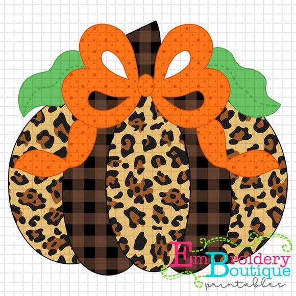 Pumpkin Bow Orange Printable Design PNG - embroidery-boutique