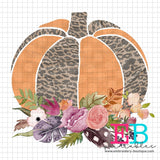 Pumpkin Floral Printable Design PNG, Printable