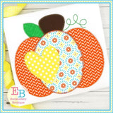 Pumpkin Heart Zigzag Applique