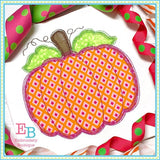 Pumpkin Scribble Applique, Applique