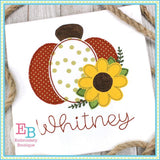 Pumpkin Sunflower Bean Applique