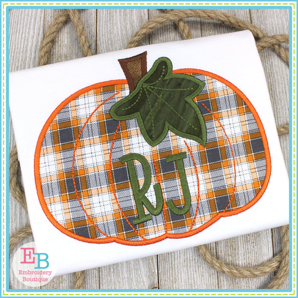 Pumpkin Leaf Satin Applique, Applique