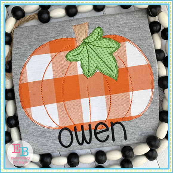 Pumpkin Leaf Zigzag Applique, Applique