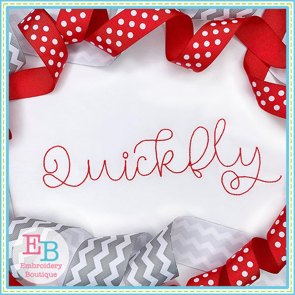 Quickfly Bean Stitch Embroidery Font