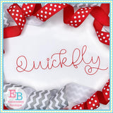 Quickfly Bean Stitch Embroidery Font, Embroidery Font