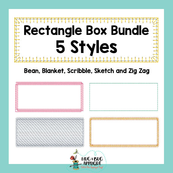 Rectangle Box Bundle, Applique