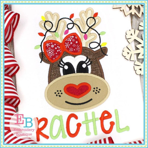 Reindeer Heart Nose Applique