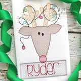 Reindeer Lights Sketch Stitch Embroidery Design, Embroidery