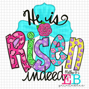 He Is Risen 2 Sublimation Printable Design PNG