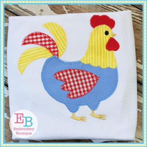 Rooster Blanket Stitch Applique