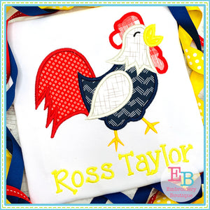 Rooster Satin Applique