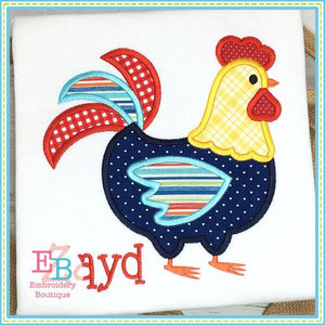 Rooster Satin Applique, Applique
