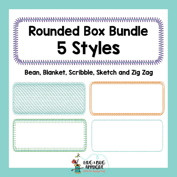 Rounded Box Bundle-Embroidery Boutique