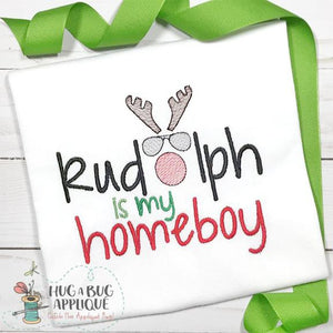 Rudolph is My Homeboy Embroidery Design, Embroidery