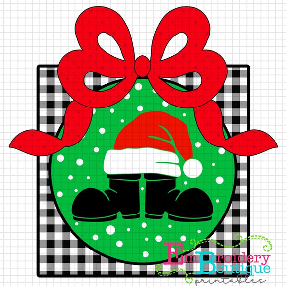 Santa Boots Hat Bow Printable Design PNG - embroidery-boutique