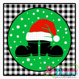 Santa Boots Hat Printable Design PNG