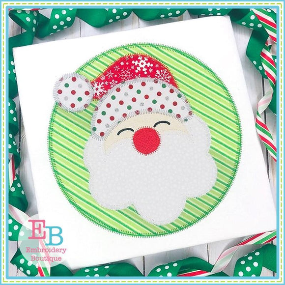 Simple Santa Circle Applique, Applique